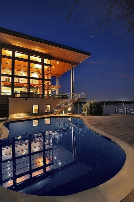 Green House Overlooking the Chesapeake Bay Designed by Gardner Mohr Architects | NEEEWS | Scoop.it