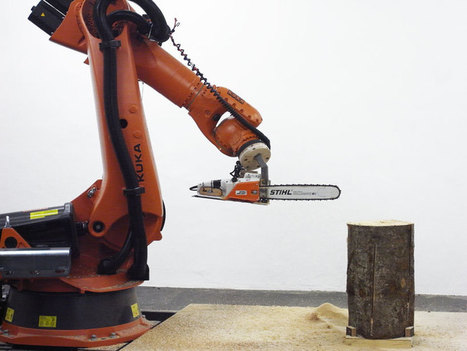 chainsaw robot carves the 7Xstool by tom pawlofsky + tibor weissmahr | AL_TU research | Scoop.it
