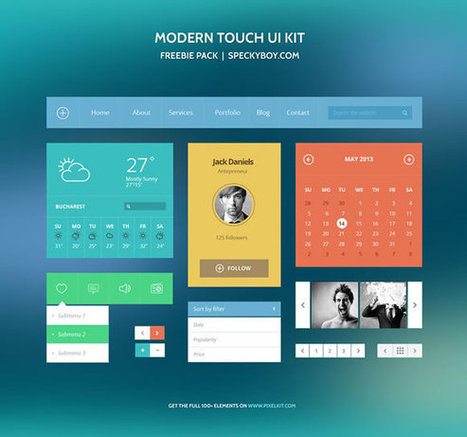 10 Super Useful Free Flat UI Kits | Web Design & Development | Scoop.it