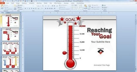 Animated Goal Chart Template for PowerPoint | PowerPoint Presentation | Fundraising Goal Template | Scoop.it