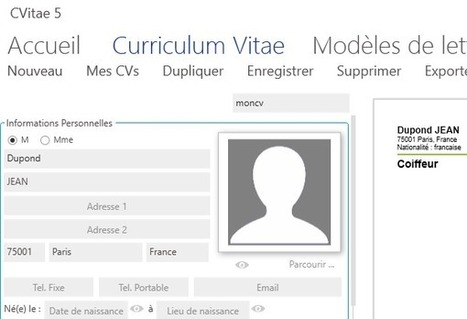 CVitae - un logiciel gratuit pour créer son CV - Geekordi | Culture Mission Locale | Scoop.it