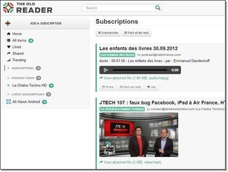 Theold Reader : une solution alternative à Google Reader | Web & Bib | Scoop.it