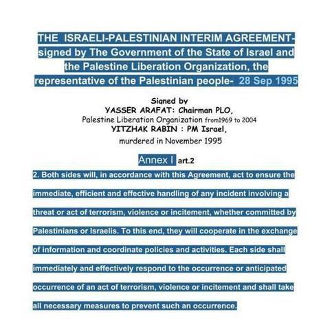 #WestBank: la polizia #Palestinese collabora con Israele in forza di un trattato tra #Arafat e #Rabin   PALESTINIANS & ISRAELIS   Scoop.it
