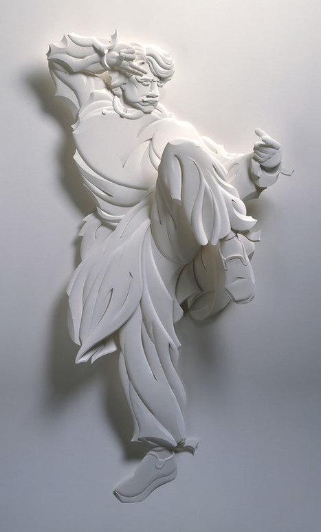 Des sculptures en relief sur du papier par Jeff Nishinaka | Graphisme - Illustration | Scoop.it