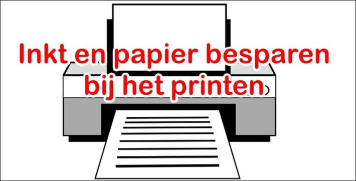 Edu-Curator: Hoe bespaar je op inkt en papier bij het printen? | Edu-Curator | Scoop.it