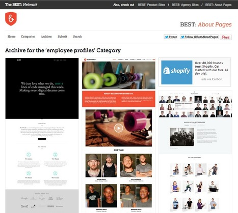 Examples of Well Designed Pages on the Web: The BEST, a Network of Inspiring Sites | The Web Design Guide and Showcase | Scoop.it