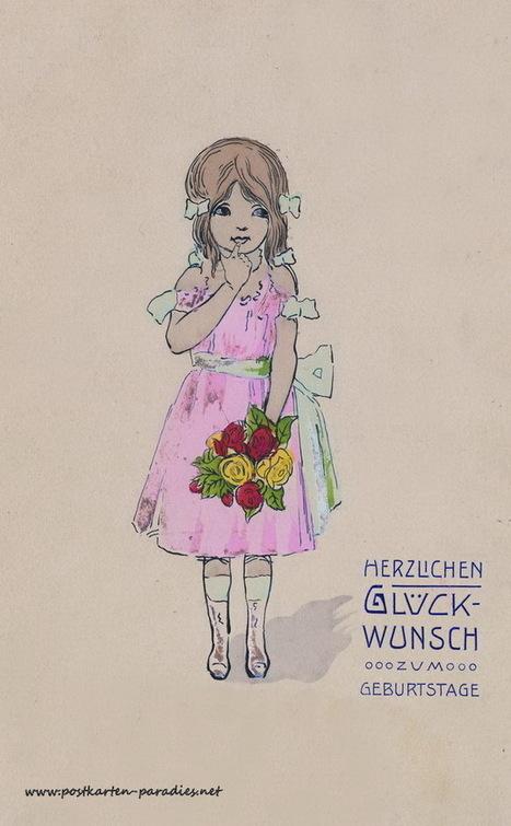 Schöne, alte Geburtstagskarten | gaidaphotos | Scoop.it