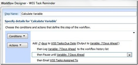 Workflow: Reminder Before Due Date – MOSS vs. WSS - Laura Rogers @WonderLaura | SharePoint-tips-and-tricks | Scoop.it