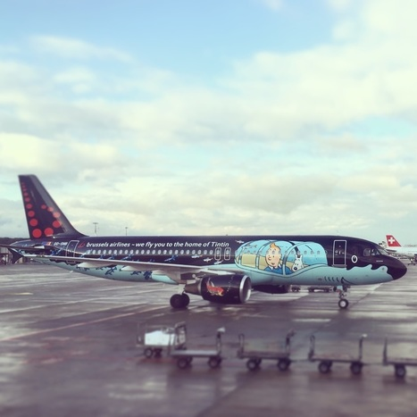 Side by side with Brussels Airlines' Tintin Airbus #SNRackham | Allplane: Airlines Strategy & Marketing | Scoop.it