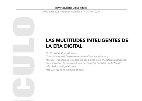 LAS MULTITUDES INTELIGENTES DE LA ERA DIGITAL | Maestr@s y redes de aprendizajes | Scoop.it