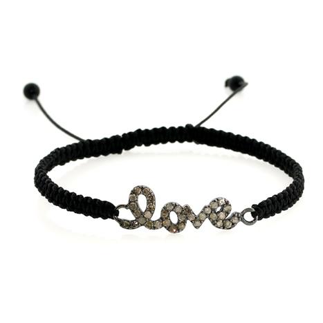 Diamond LOVE Macrame Bracelet | Wholesale Jewelry | GemcoDesigns | Pave Diamond Bracelets | Diamond Jewelry | GemcoDesigns | Scoop.it