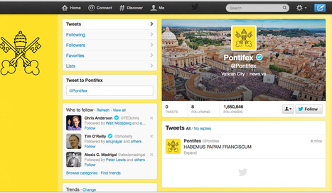 New pope's first tweet: 'HABEMUS PAPAM FRANCISCUM' | Movin' Ahead | Scoop.it