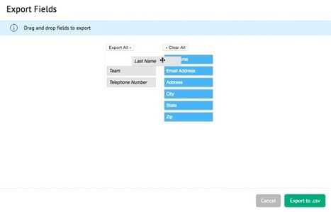 Drag and Drop jQuery Interface for Exporting Records to CSV | All things Filemaker  Go | Scoop.it