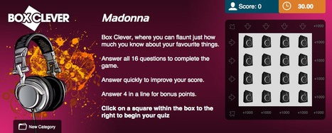 Madonna Quiz | Box Clever | QuizFortune | Quiz Related Biz - Social Quizzing and Gaming | Scoop.it