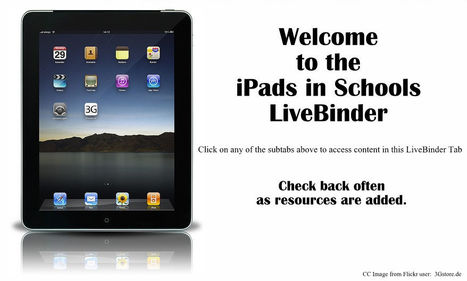 iPads in Schools - LiveBinder | Teaching with Tech for Special Education | Scoop.it