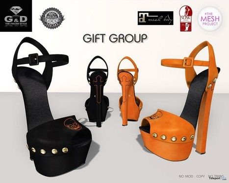 Lola Sandals Halloween Group Gift by G&D The Italian Style | Teleport Hub - Second Life Freebies | Second Life Freebies | Scoop.it