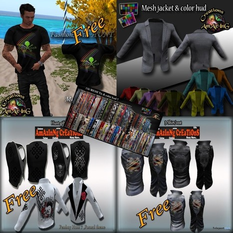 Vests, Jackets, and Shirts 6 Group Gifts for Men by AmAzInG CrEaTiOnS | Teleport Hub - Second Life Freebies | Second Life Freebies | Scoop.it