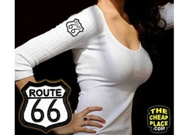 Route 66 Medium Patch - Embroidered Iron On | Patches for Motorcycle Rider Jackets | Scoop.it