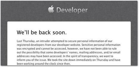 Apple confirma que seu site de desenvolvedores foi invadido | Apple Mac OS News | Scoop.it