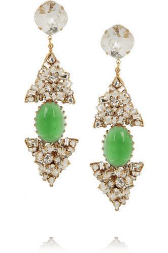 Bijoux Heart|Gold-plated Swarovski crystal clip earrings|NET-A-PORTER.COM | SEXY | Scoop.it
