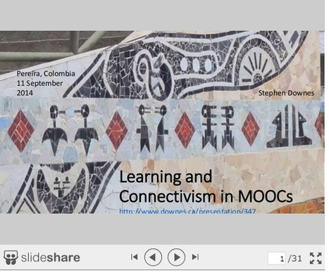 Learning and Connectivism in MOOCs ~ Stephen's Web | APRENDIZAJE | Scoop.it