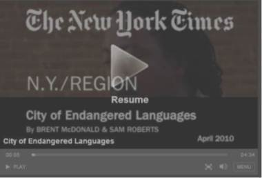 NYTimes Video: City of Endangered Languages | IELTS, ESP and CALL | Scoop.it