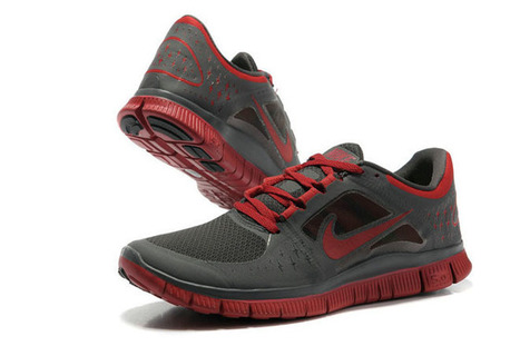 Nike Free Run 3 Charcoal Red-Mens | my style | Scoop.it