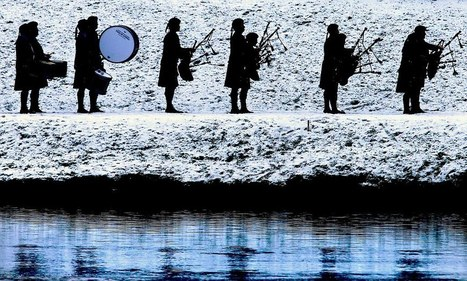 Salmon fishing in the Tay: Beautiful pictures as fishermen enjoy the start of Scotland's angling season with pipe bands... and lots of whisky | Speyfly.co.uk - Fishing Tours & Holidays | Scoop.it