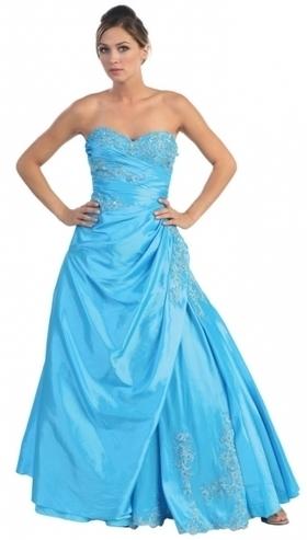 BallGown Sweetheart Taffeta Floor-length Blue Appliques Quinceanera Dress at sweetquinceaneradress.com | Quinceanera Dresses 2014 | Scoop.it