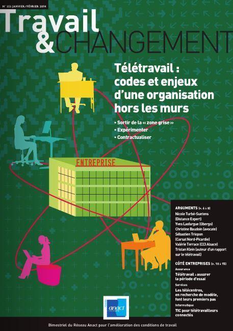 Télétravail : codes et enjeux d'une organisation hors les murs | Travail & changement : La revue de la qualité de vie au travail - Anact | Mooc Santé au travail (Estim) | Scoop.it