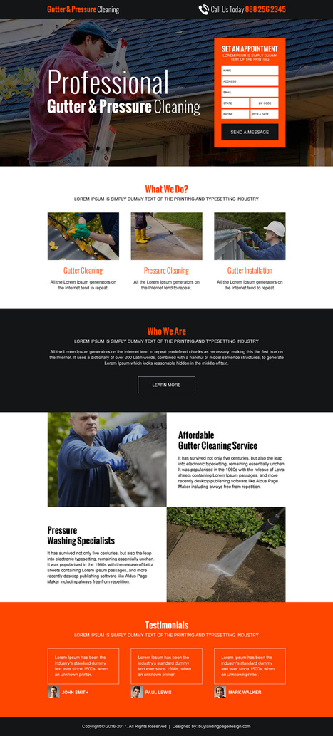 Cleaning service landing page design templates that converts | | Landing Pages | best landing page design | Scoop.it