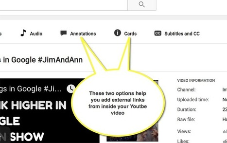 How to Link from Inside Youtube Video: Build Traffic from Youtube | Online Marketing Resources | Scoop.it