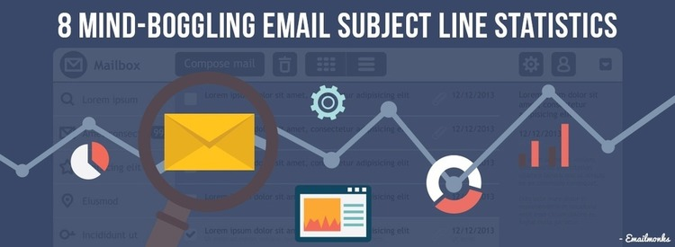 8 Email Subject Line Statistics Every Marketer MUST Know - EmailMonks | The MarTech Digest | Scoop.it