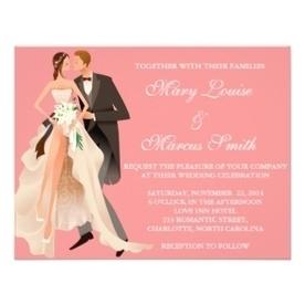 Pink Wedding Invitation   Adriane Designs   Scoop.it