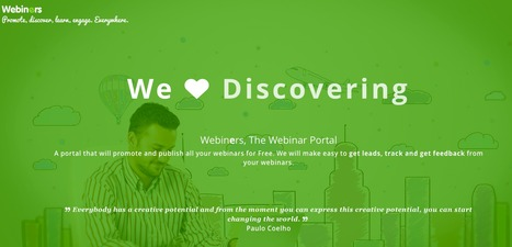 We love Webiners, The Webinar Portal. Promote, Discover, Learn, Engage. Everywhere. | Enseigner en ITEP | Scoop.it