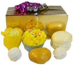 Ballotin de Bain Soleil Sucré - L'Accro du Bain   L'Accro du Bain boutique de produits pour le bain et savons gourmands:boule de bain, savons de Marseille,savon artisanal,cupcake de bain, savons cupcakes   Scoop.it