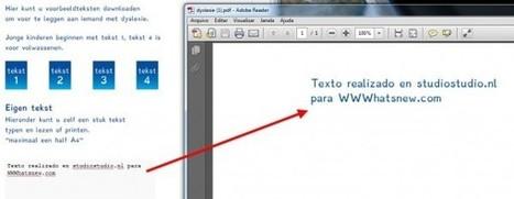 Recursos web para ayudar a personas con dislexia | EDUDIARI 2.0 DE jluisbloc | Scoop.it