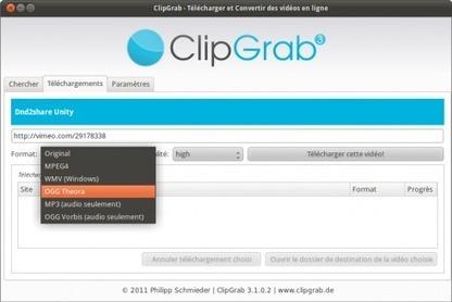 Téléchargez et convertissez des vidéos en ligne avec ClipGrab pourUbuntu   Photo, Illustration, Montage, Modélisation & Musique LIBRE !   Scoop.it
