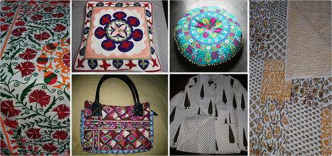 Silk, Suzani Bed And Cushion Cover In Jaipur, Vintage Bag Quilt, Indigo Print jacket | Vintage Bag in Jaipur | Scoop.it