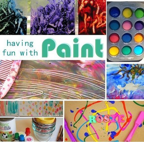 Playing with Paint | Learn through Play - pre-K | Scoop.it