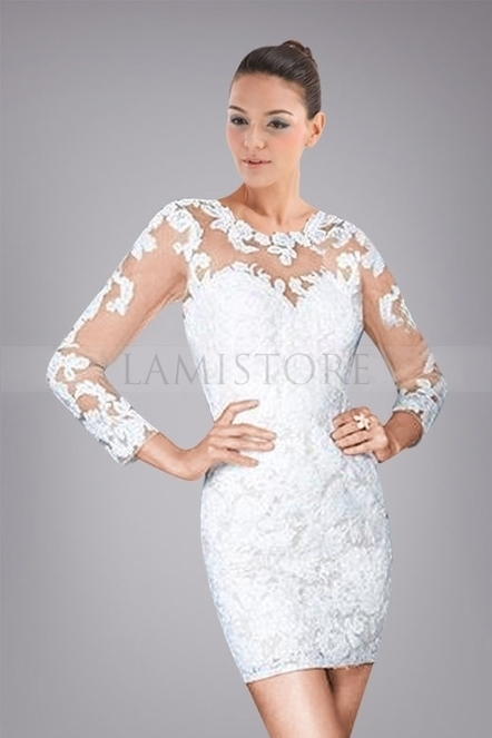 Fantastic Sweetheart Neckline Cocktail Dress with Floral Lace Cover : Lamistore.com | Lamistore Fashion Prom Dresses | Scoop.it