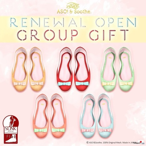 Coron Sandals 4 Colors Store Renewal Opening Group Gift by ASO! | Teleport Hub - Second Life Freebies | Second Life Freebies | Scoop.it