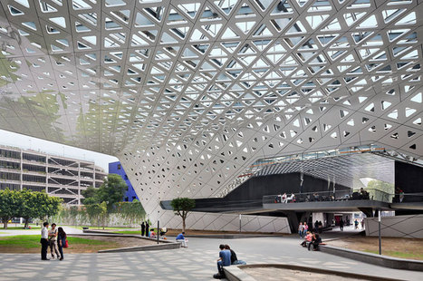 perforated roof connects cineteca nacional by rojkind arquitectos - designboom | architecture & design magazine | Architecture, design & algorithms | Scoop.it