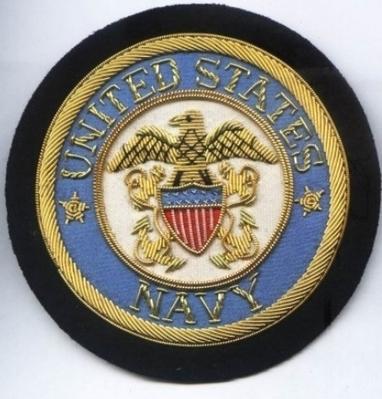United states Navy Bullion wire Blazer Badge | Blazer Badges | Scoop.it