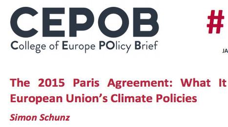 The 2015 Paris Agreement: What It Means for the European Union's Climate Policies | Politiques environnementales | Scoop.it