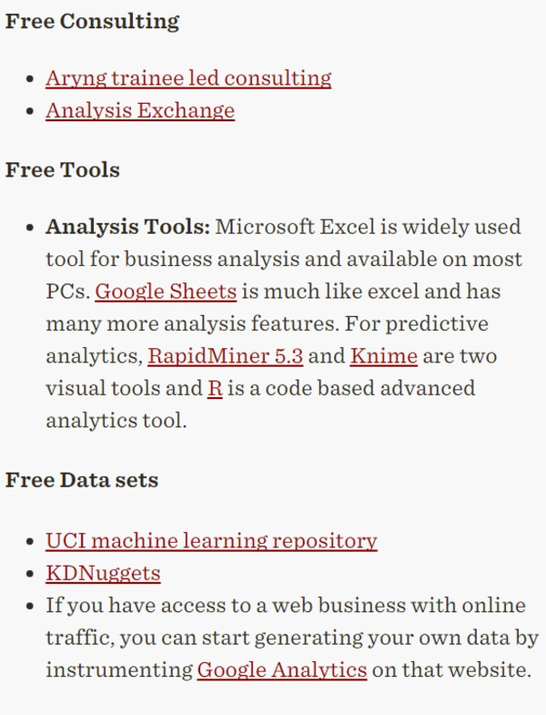 YourUltimate Guide To Free Analytics Resource - Consulting, Tools, Training - Forbes | The Marketing Technology Alert | Scoop.it