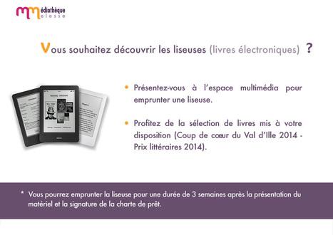 Lecture publique du Val d'Ille » Archives du Blog » Médiathèque de Melesse (35) : Liseuses | Lire en numérique en bibliothèque | Scoop.it