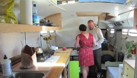 Watch: Couple transform school bus into tiny home on wheels | RV Living | Scoop.it