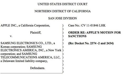 Samsung faces sanctions over latest dirty trick in Apple case - Fortune (blog) | Technews | Scoop.it