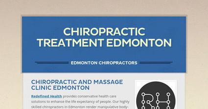 Best Chiropractic Treatment Centre in Edmonton | Edmonton Chiropractors - Redefined Health | Scoop.it
